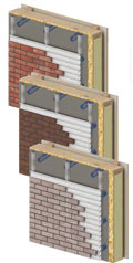 home extension wall system - brickslip external finish