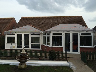 02 tiled conservatory roof during