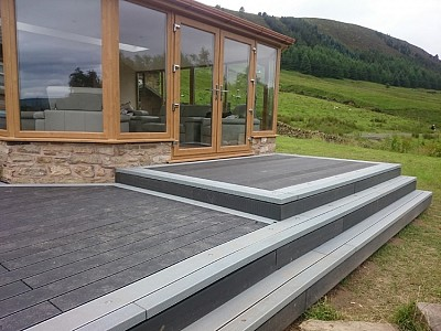 Composite wood decking026