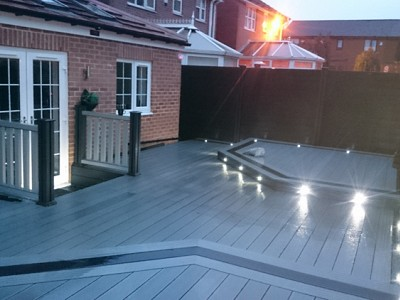 Composite wood decking049