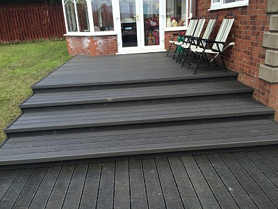 Composite wood decking080