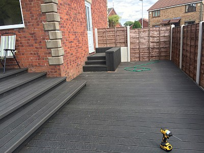 Composite wood decking083