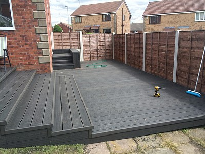 Composite wood decking084