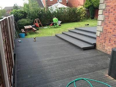 Composite wood decking086