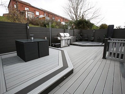 Composite wood decking093