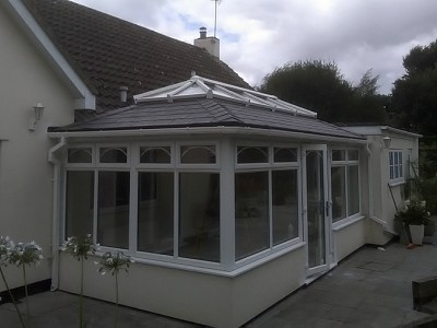 Replacement double hipped conservatory roof bournemouth