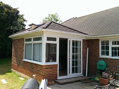 Replacement double hipped conservatory roof christchurch 3