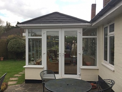 Replacement double hipped conservatory roof christchurch