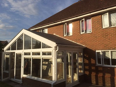 Replacement gable end conservatory roof dorset 1