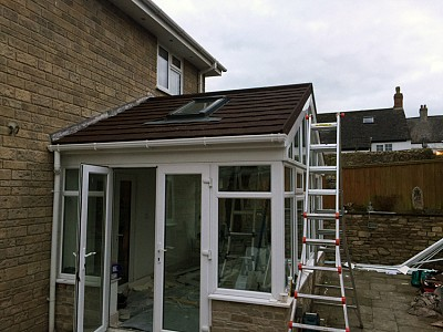 Replacement gable end conservatory roof dorset 2