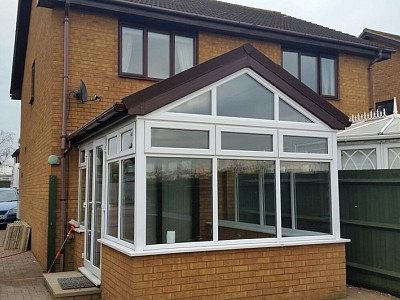 Replacement gable end conservatory roof dorset 5