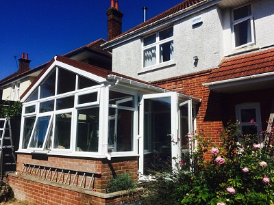 Replacement gable end conservatory roof dorset