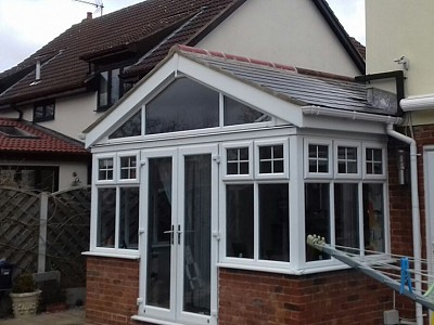 Replacement gable end conservatory roof dorset 8