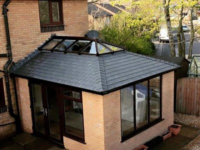 Replacement tiled orangery roof 1
