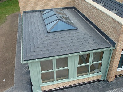 Replacement tiled orangery roof 2