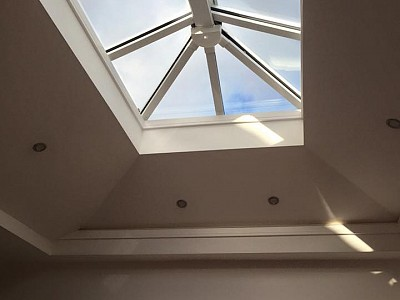Replacement tiled orangery roof internal1