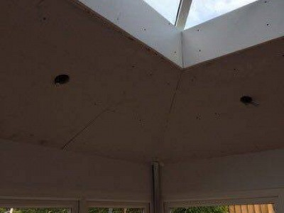 Replacement tiled orangery roof internal4