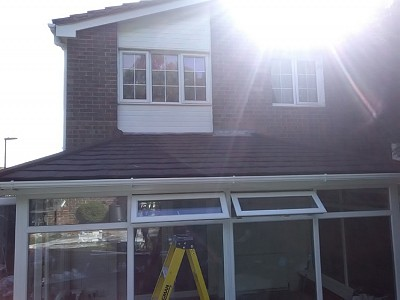 Tiled gullwing conservatory roof 1