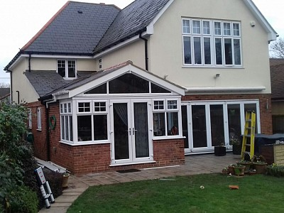 Tiled gullwing conservatory roof 10