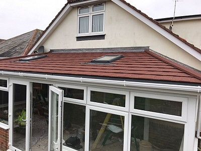 Tiled gullwing conservatory roof 3
