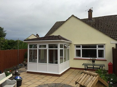 Tiled gullwing conservatory roof 4