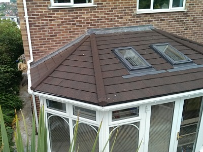 Tiled gullwing conservatory roof 5