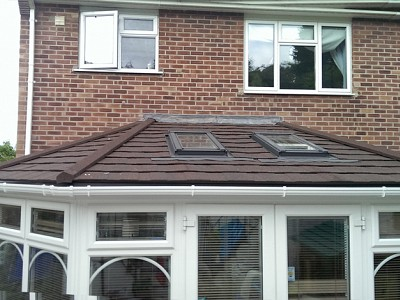 Tiled gullwing conservatory roof 6